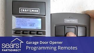 programming garage door opener remotes