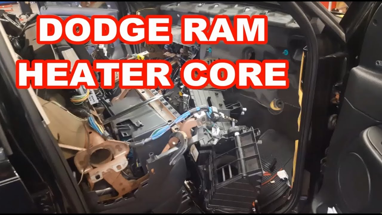 2004 Dodge Ram 1500 Heater Core Replacement 2003 2005 Replacing 2500 Fuse Box Location Overview How To Evaporator