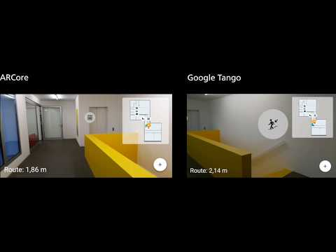 Augmented Reality Indoor Navigation - Tango vs ARCore