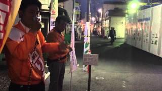 立石りお街頭演説 中野区議会議員選挙 2015