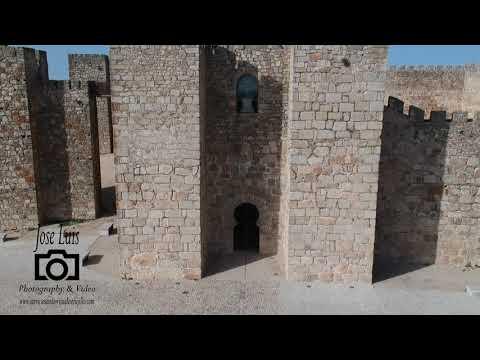 Castillo de Trujillo, Cáceres, Extremadura, España, vista aérea Drone.