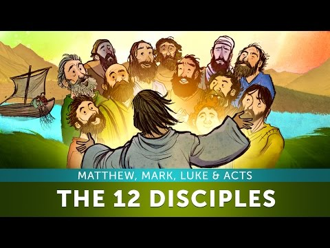 Sunday School Lesson for Kids - The 12 Disciples - Matthew, Mark, Luke & Acts - Bible Story for Kids