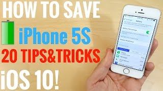 Repeat youtube video How to save battery life iPhone 5S iOS 10