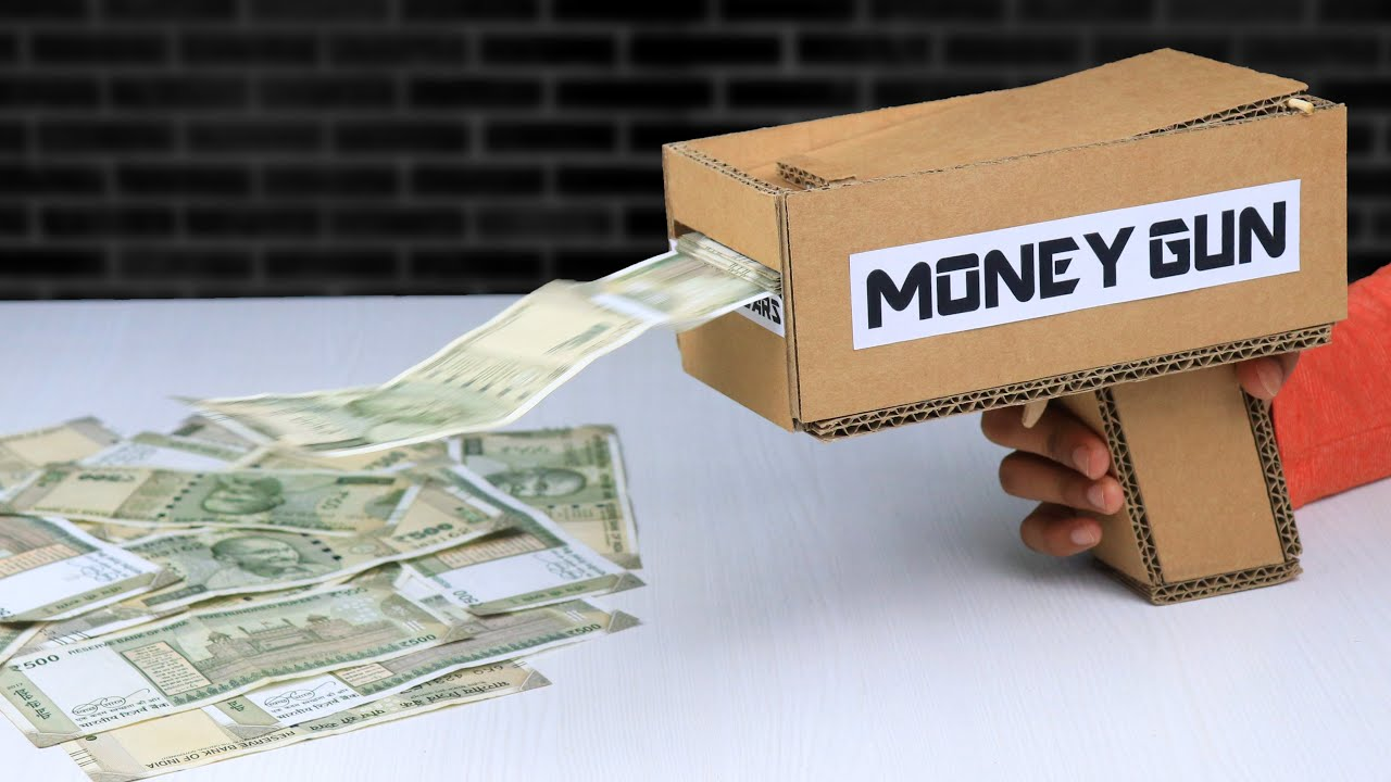 Download How To Make Money Gun From Cardboard | DIY Cash Cannon