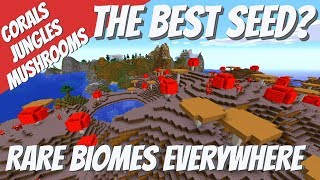 The Best minecraft Seed? An Amazing Mix of Rare Biomes All Close Together Avomance Seed Reviews Ep7