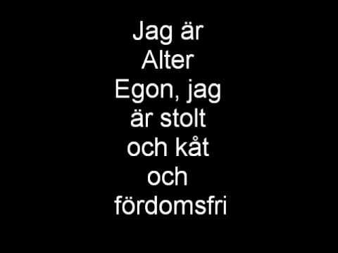 Alter Egon- Jag är Alter Egon with lyrics