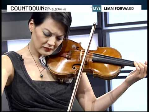 Anne Akiko Meyers Plays Her Stradivarius  20101026 Countdown with Keith Olbermann