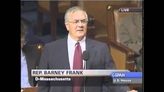 Barney Frank lies about his role in creating the housing bubble