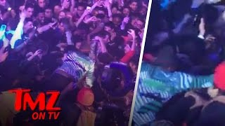 young thug fails miserably at crowd surfing   tmz tv