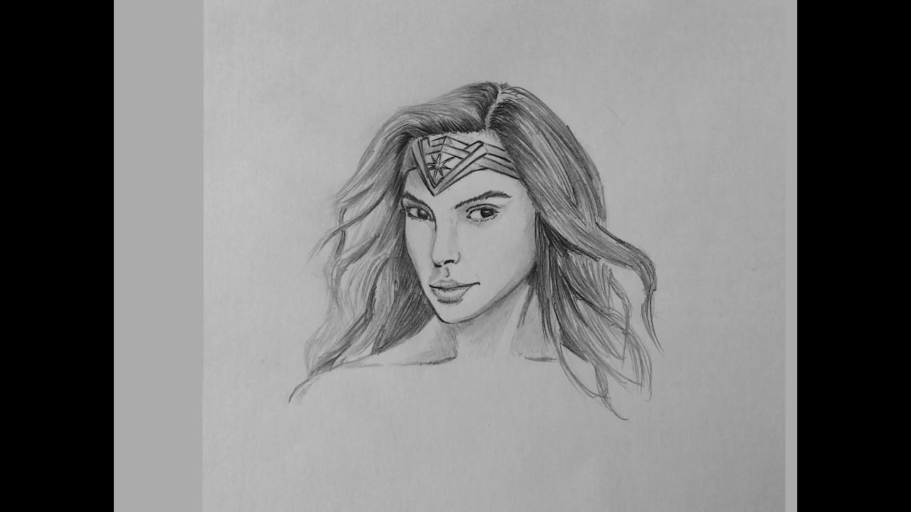 Dibujos De La Mujer Maravilla Para Colorear E Imprimir: Dibujo Rápido Y Sencillo Del Rostro De La Mujer Maravilla