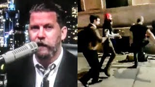 Gavin McInnes' Disgusting, Low-IQ Followers Attack Left-Wing Protestors