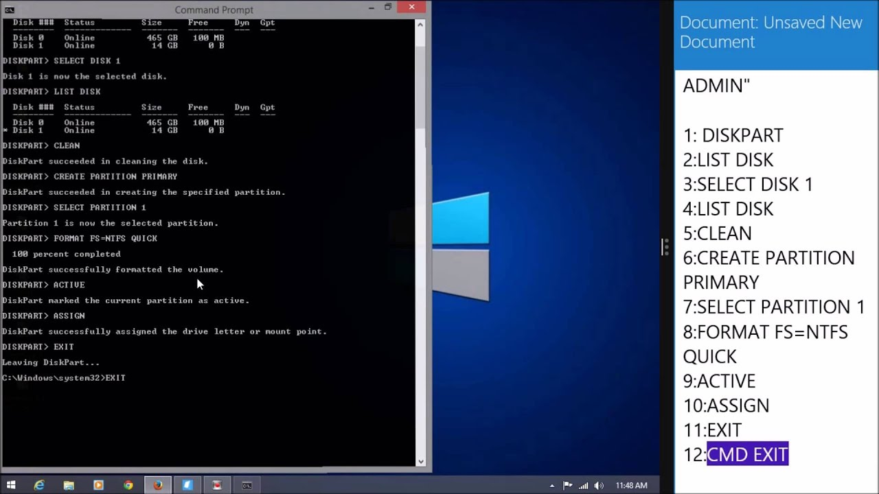 how to make windows 8 bootable usb using cmd