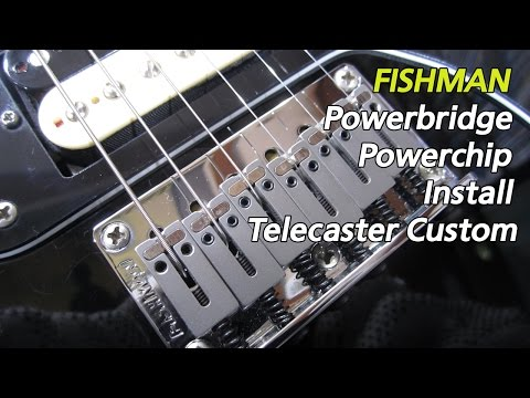Piezo PU + Pre Amp Install Telecaster Custom