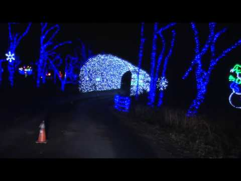 Shady Brook Farm Holiday Light Show 2014 HD