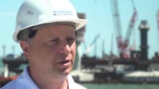 Автомобильная часть Крымского моста готова на 75%