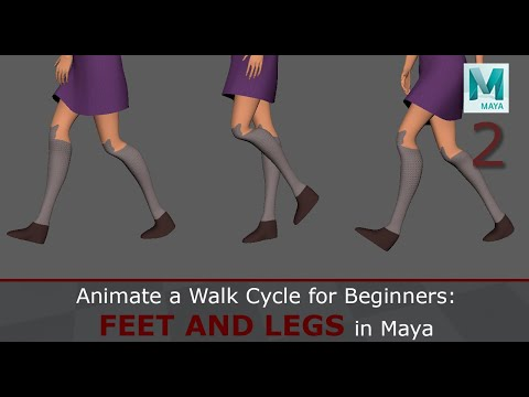 Animate A Walk Cycle For Beginners: Feet And Legs