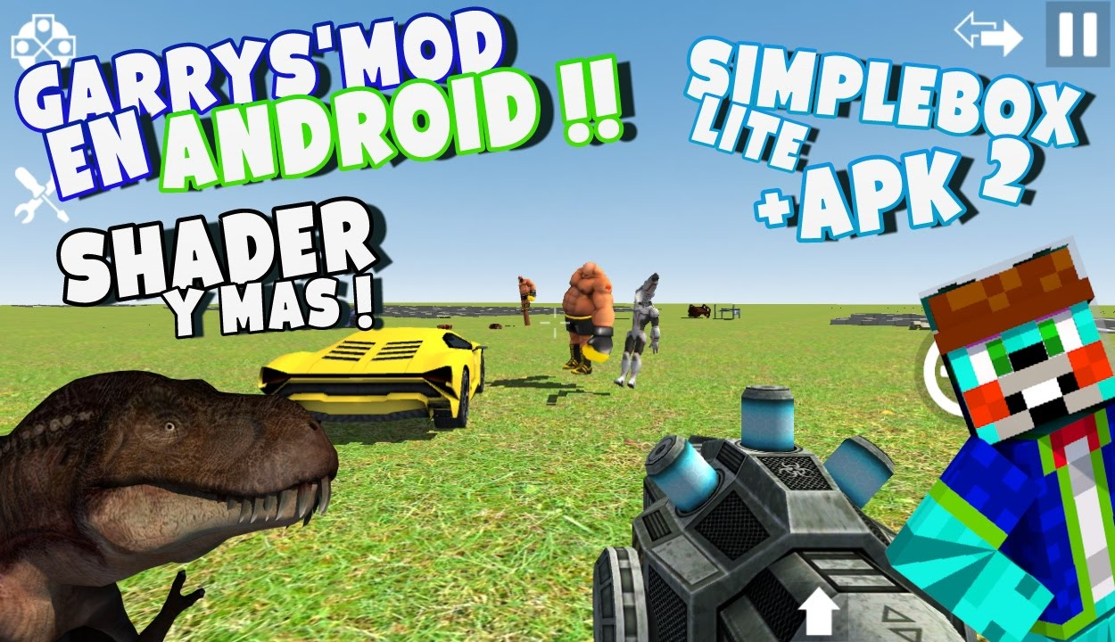 Garrys Mod En Android APK SIMPLEBOX ANDROID YouTube - Skins guapos para minecraft pe