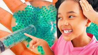 NEW ! Ne pas dire WOW SLIME Challenge!! - WATER édition Verity + MAMAN 💦