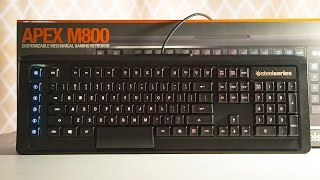 steelseries APEX M800 Keyboard Review  New QS1 Switch is Awesome!