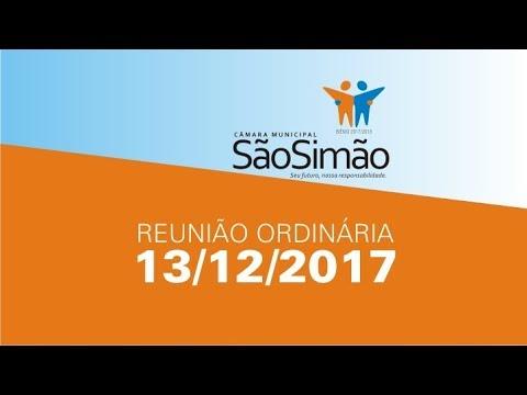 REUNIAO ORDINARIA 13/12/2017