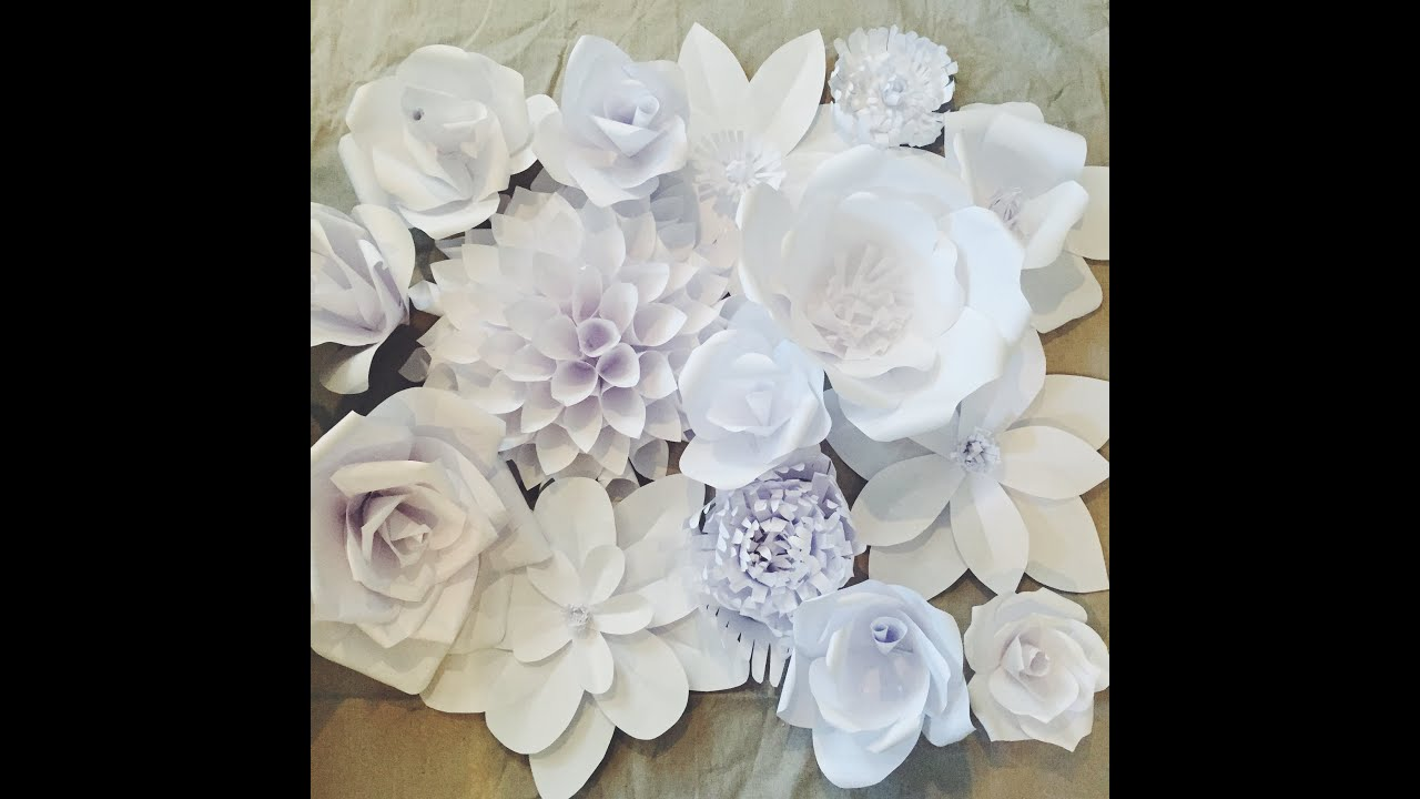 Creating A Paper Flower Backdrop Flower 1 Youtube