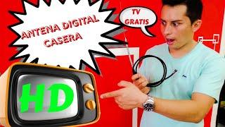 Como hacer Antena HD casera 2019, antena casera, antena Digital economica