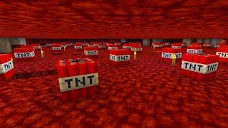 Using TNT To Mine Ancient Debris in Minecraft