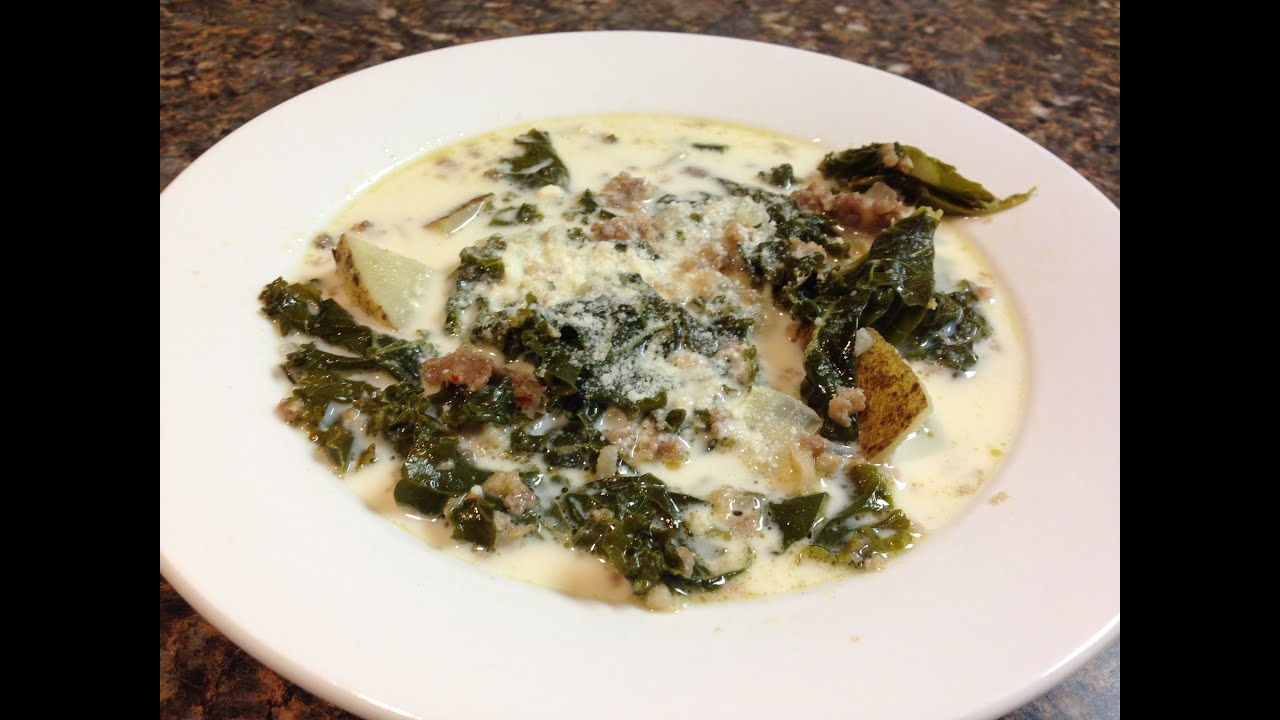 How To Make Olive Garden Zuppa Toscana Soup - YouTube