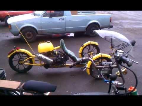 Bumble Bee Human Petrol Hybrid Motor Assisted Trike 49cc