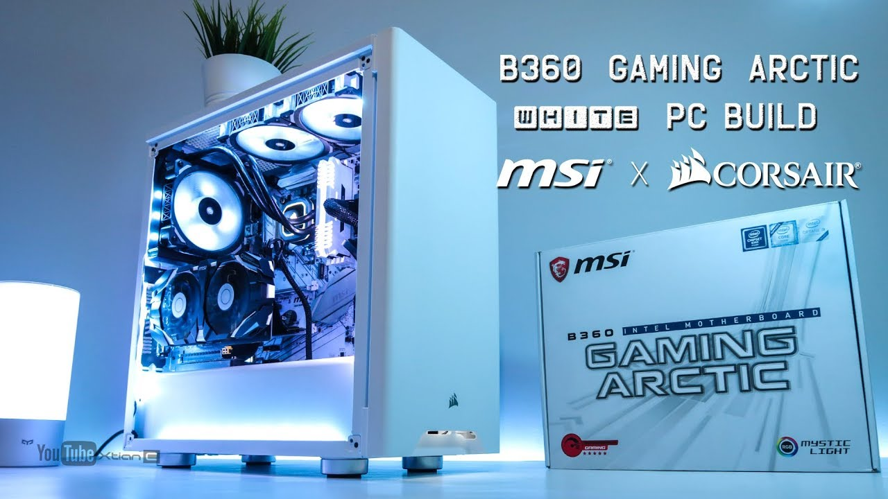 MSI B360 Gaming Arctic White PC Montage Build ft. Corsair 275R White & MSI GTX 1060 3GT OCV2