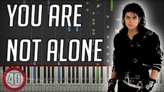 Michael Jackson - You are not Alone Piano Tutorial [40% speed] (Synthesia)