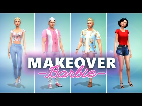 BARBIE SPRING / AUTUMN FAMILY MAKEOVER!  [ The Sims 4 ]