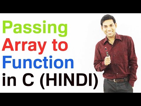 Download Youtube: Passing Arrays as Function Arguments in C (HINDI)
