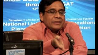 Launching DISE 2013-14: Prof. Arun C Mehta, Part I (English)