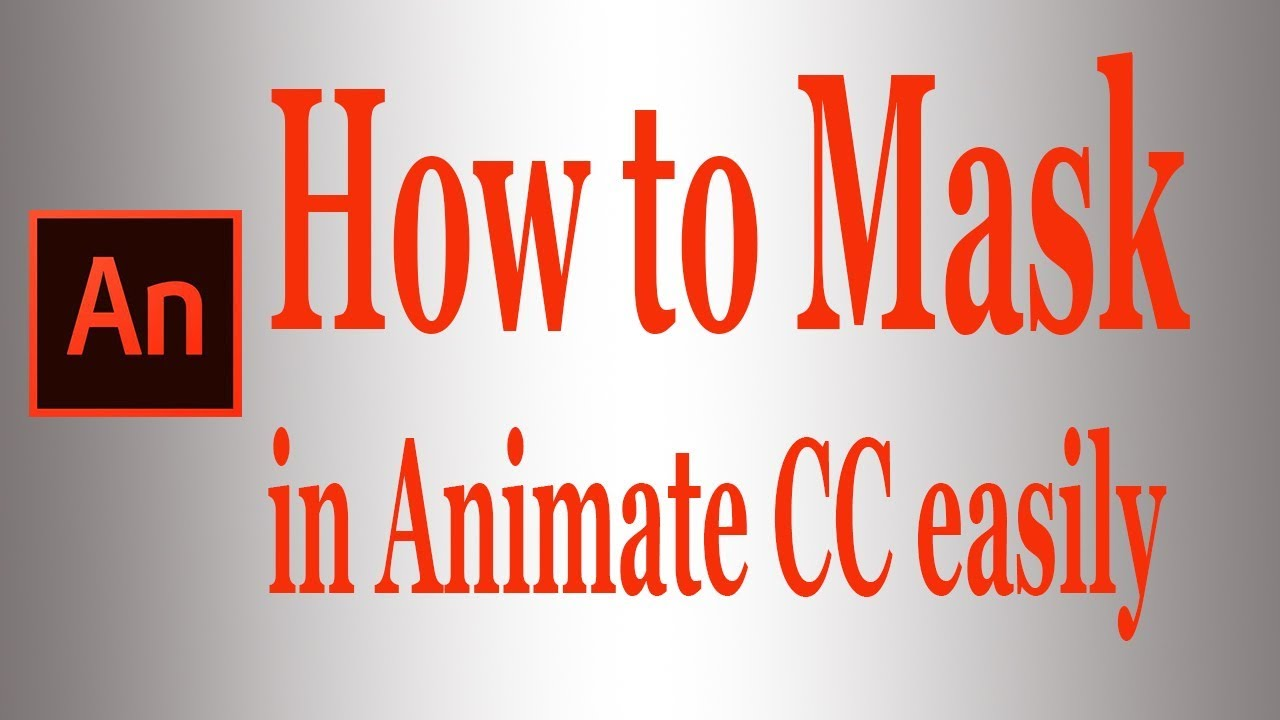 How to mask in Animate CC|Text and Gradient Effect | Animate CC Bangla  Tutorial