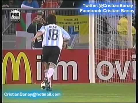 (2-1) Argentina 2 Nigeria 1 (Relato Victor Hugo) Mundial Sub 20 2005 2do gol de Messi