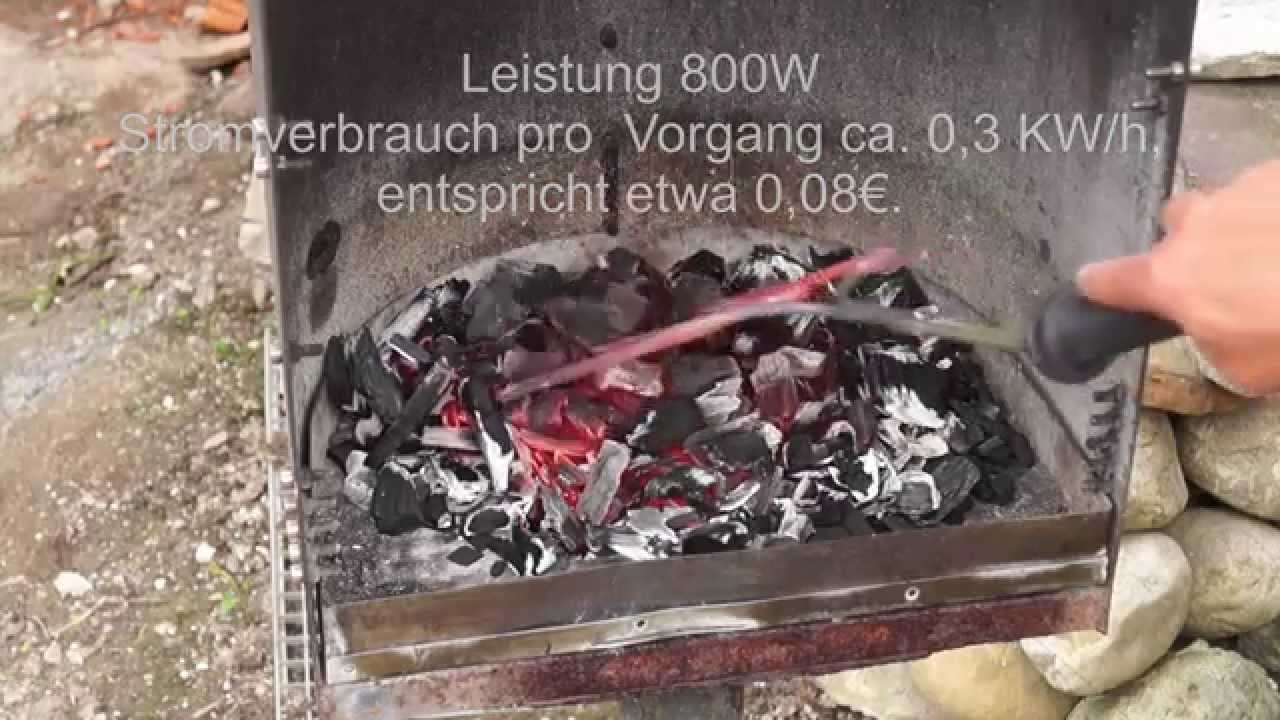 test eines elektrischen grillanzünders - youtube