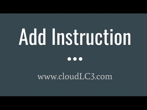 Lc3 Assembly Add Instruction Youtube