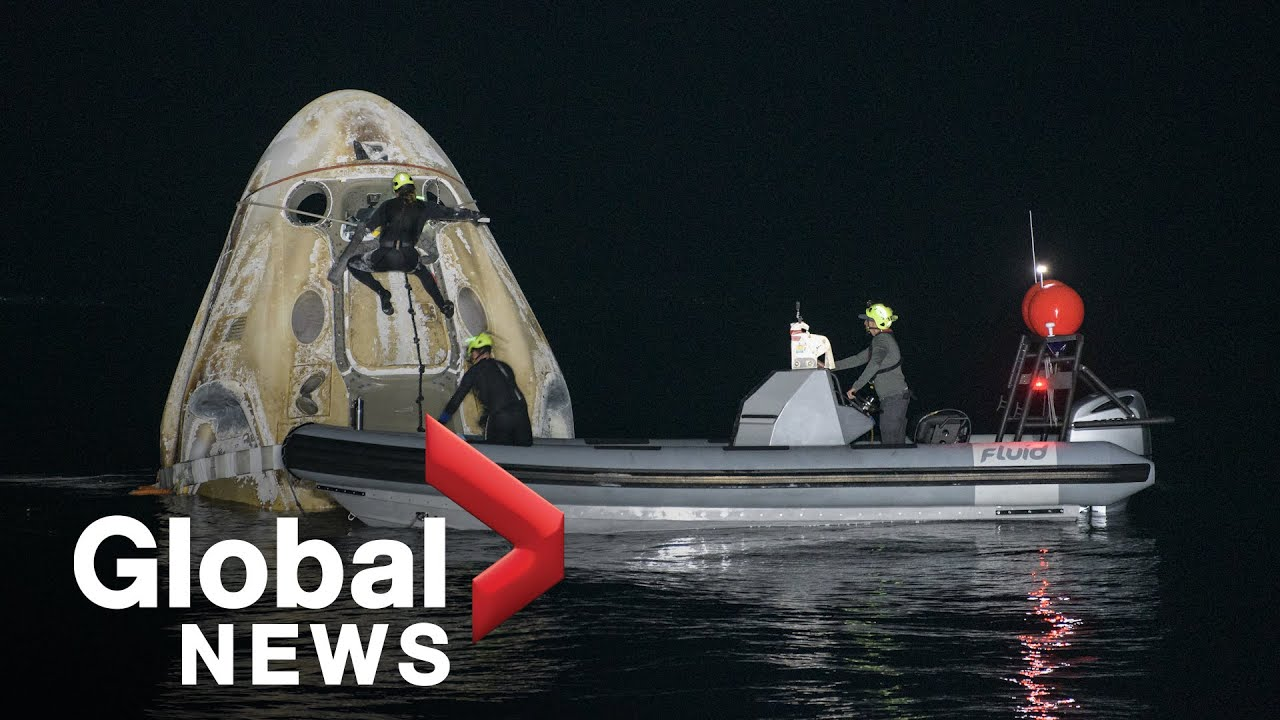 SpaceX capsule with worlds first allcivilian crew lands off Floridas coast