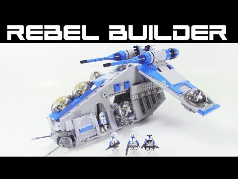 LEGO Star Wars 501st Republic Gunship! Set #75021 Alternate Color