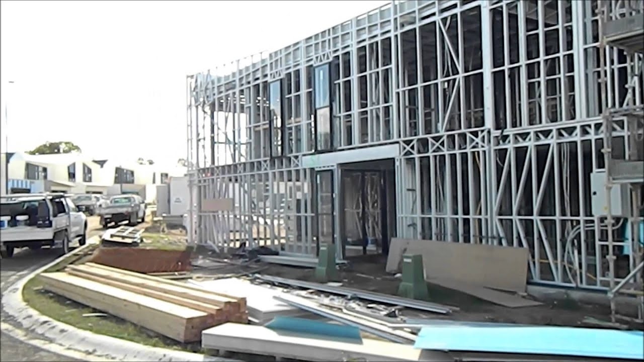 steel frame construction site tour 22 may 2014 brisbane australia youtube