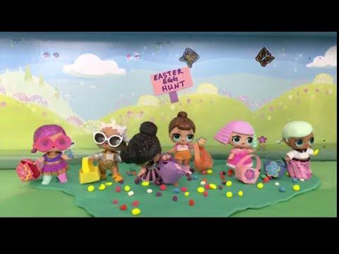😊 LOL Surprise Dolls: Easter Egg Hunt | Stop Motion Video 💗