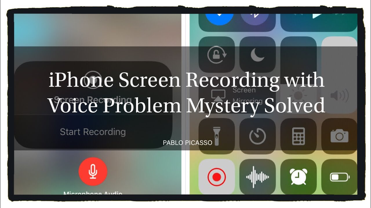iphone screen record wont record audio