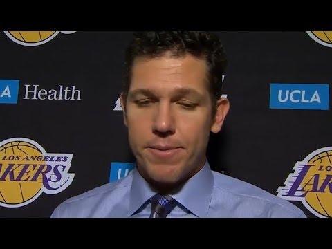 Luke Walton Postgame Interview / LA Lakers vs Mavericks / Feb 10