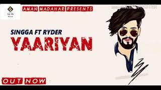 Yaariyan | new audio song | singga | latest Punjabi songs 2019| jatt life records