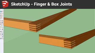 Sketchup Drawing Finger And Box Joints