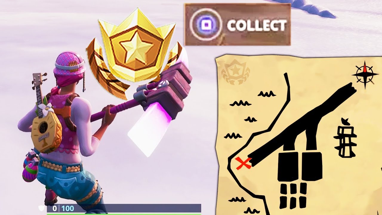 search the treasure map signpost found in paradise palms search the x on map location fortnite - fortnite treasure map signpost paradise palms location