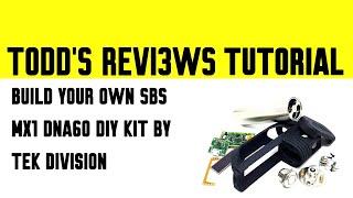 Build Your own DNA60 SBS Mod - MX1 DIY KIT SBS by Tek Division