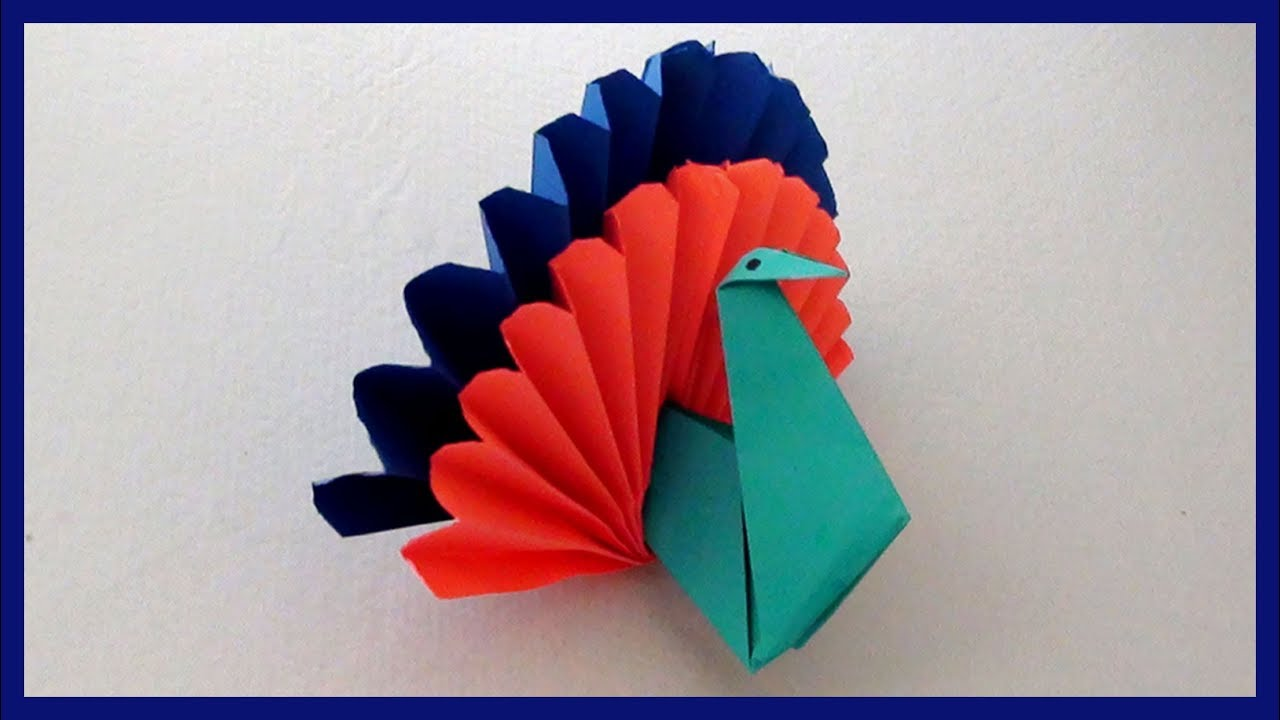 Easy Paper Peacock Craft For Kids Diy Simple Paper Craft Projects