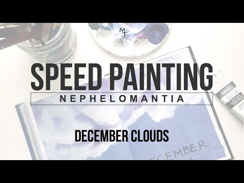 Speed Painting (Acrylic) – December Cloud